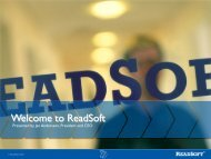 Welcome to ReadSoft