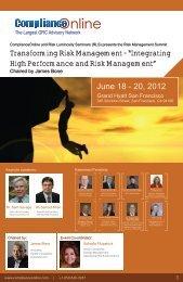 Keynote Address: Modern Enterprise Risk Management