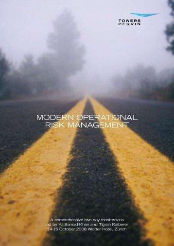 MODERN OPERATIONAL RISK MANAGEMENT - Enterprise Risk ...