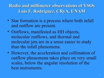 Radio and millimeter observations of YSOs