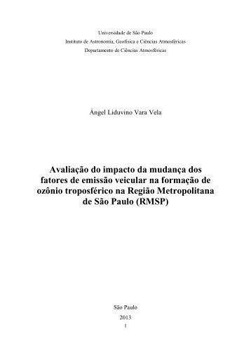 Avaliação do impacto da mudança dos fatores de ... - IAG - USP