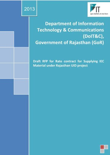RFP_Rate contract for IEC mate... - Rajasthan UID Project