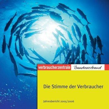 – vzbv Jahresbericht 2006 –