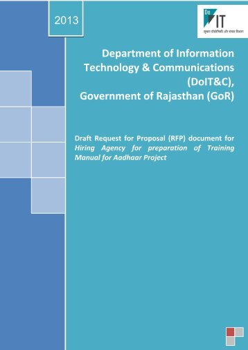 Technology & Communications (DoIT&C) Government of Rajasthan (GoR)