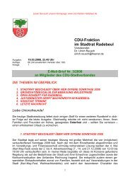 CDU-Fraktion im Stadtrat Radebeul