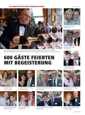 600 GÄSTE FEIERTEN MIT BEGEISTERUNG