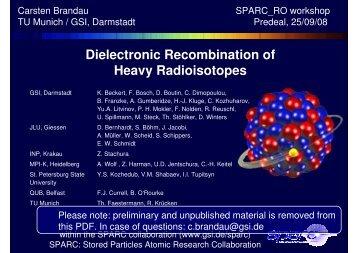 Heavy Radioisotopes