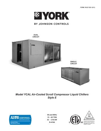 form 160 80 eg1 900 york millennium model ys chiller trader rh yumpu com Chiller Made in Mexico Parts of a Chiller