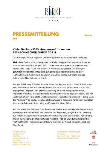 pressemitteilung - Hotel Birke Kiel