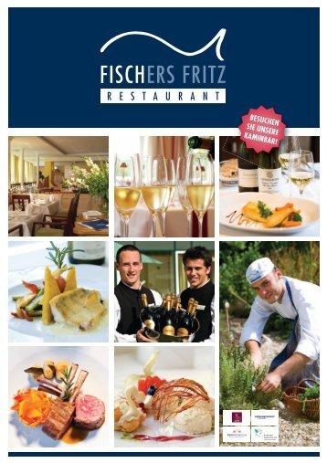 Speisekarte Fischers Fritz 22.11.10 - Hotel Birke Kiel