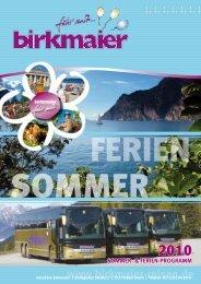 sommer - Birkmaier Reisen