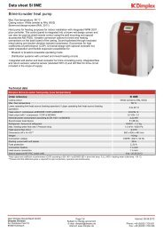 Data sheet SI 9ME Brine-to-water heat pump