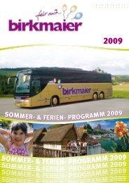 (Besonderheit: Clubecke, WC) vom 48-Sitzer bis ... - Birkmaier Reisen