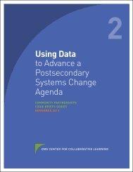 Using Data to Advance a Postsecondary Systems Change Agenda