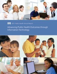 STC Advancing Public Health Outcomes through Information Technology