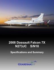 2008 Dassault Falcon 7X N273JC S/N18