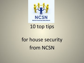 10 top tips for house security from NCSN