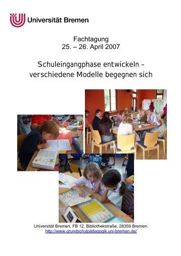 Schuleingangphase entwickeln - Universität Bremen