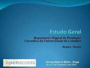 Estudo Geral.pdf - 4ª Conferência sobre o Acesso Livre ao ...