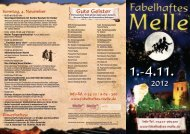 Faltblatt Fabelhaftes Melle 2012 - Stadtmarketing Melle