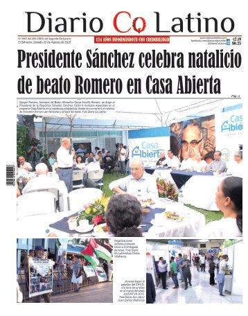 Edición 22 de Agosto de 2015