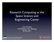 Research Computing at the Space Science and Engineering Center