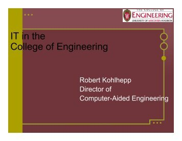 IT in the College of Engineering