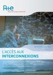 l'accès aux interconnexions - Espace clients - RTE