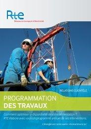 Programmation des travaux (.pdf) - Espace clients - RTE