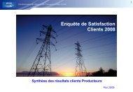 Enquête de Satisfaction Clients 2008