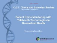 Patient Home Monitoring with Telehealth Technologies in Queensland Health