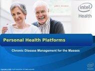 Intel's Digital Health Focus Areas