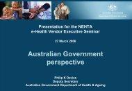 Australian Government perspective