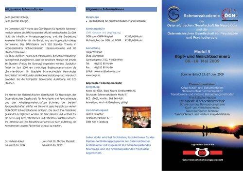 Modul 5 Kopf- und Gesichtsschmerz 08.-10. Mai 2009 ...