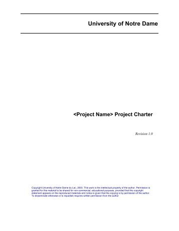 GTA Project Charter Template - AcqNotes.com