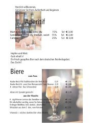 getränkekarte mit Bild - Hotel Restaurant Rohdenburg