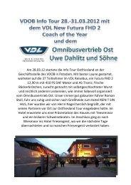 VDOB Info-Tour mit dem VDL New Futura - Omnibusvertrieb Ost