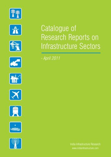Catalogue of Research Reports on Infrastructure Sectors