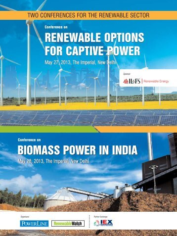 RENEWABLE OPTIONS FOR CAPTIVE POWER BIOMASS POWER IN INDIA