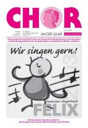 Die Auszeichnung FELIX wird vom Deutschen Sängerbund an ...