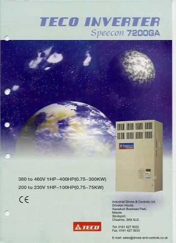 7200GA catalogue.pdf - Industrial Drives and Controls Ltd.