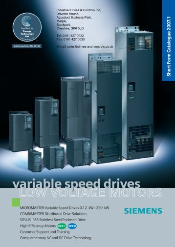 MICROMASTER Short Form Catalogue 2007.1.pdf - Industrial ...