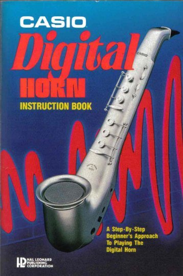 Casio Digital Horn Instruction Book - Ted Keys