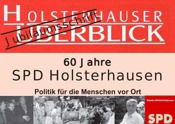Politik für die Menschen vor Ort - SPD-Holsterhausen.Essen