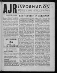 INFORMATIO;^ - The Association of Jewish Refugees