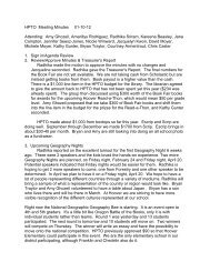 HPTO Meeting Minutes 01-10-12 Attending: Amy Ghozeil, Amarillys ...