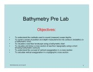 Bathymetry Pre Lab