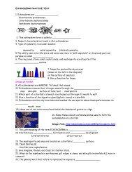 Echinoderm Practice Quiz