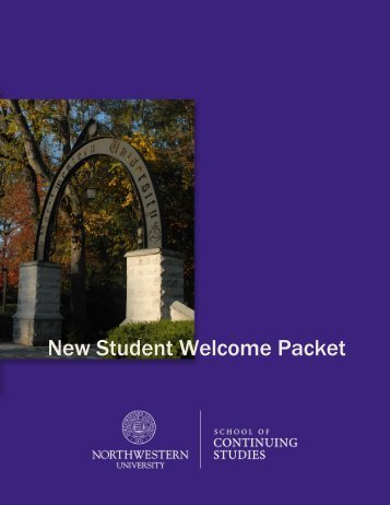 New Student Welcome Packet