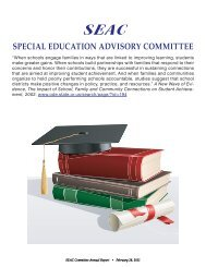 SEAC Annual Report 2010 - Corvallis School District 509J